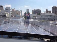 太陽光モジュール洗浄